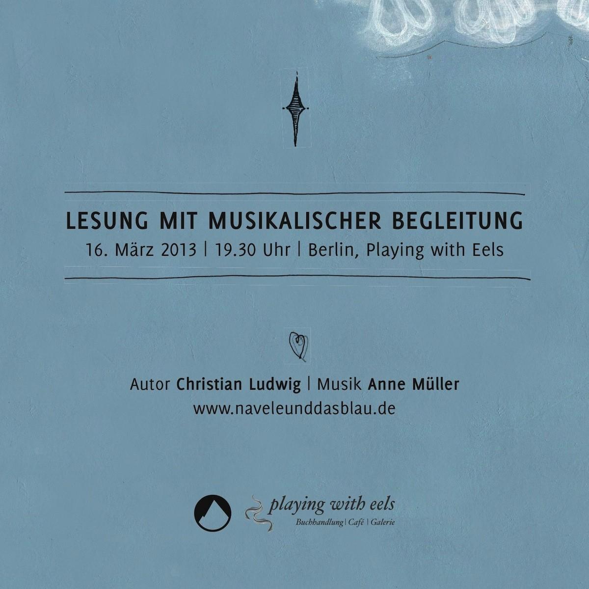 """Musikalische Lesung zu """"Navele und das Blau"""" am 16. März mit Anne Müller"""