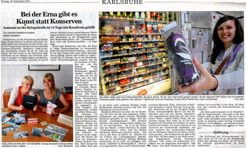 """Sendawoy"" im Kulturautomat Erna Karlsruhe"